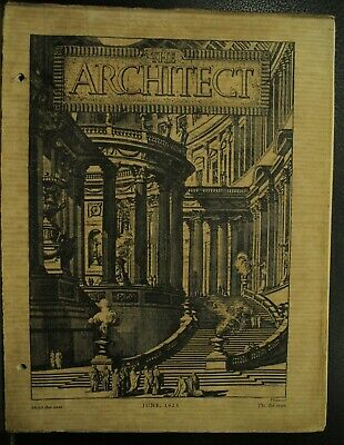 The Architect antique vintage old Architecture Arts magazine Journal June 1925