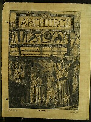 The Architect antique vintage old Architecture Arts magazine Journal Jan 1925