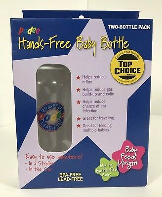 Podee Hands-Free Baby Bottle Feeding System BPA Free 25Oml Twin Pack Sealed