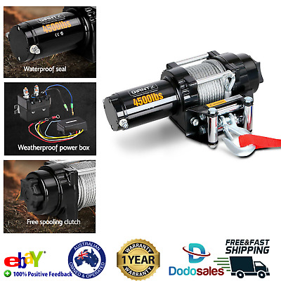 Giantz Electric Winch Wireless Remote Control Steel Cable Car Truck Boat 4WD NEW