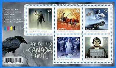 2015 Canada #2860 Haunted Canada Halloween Souvenir Stamp Sheet Mint-NH