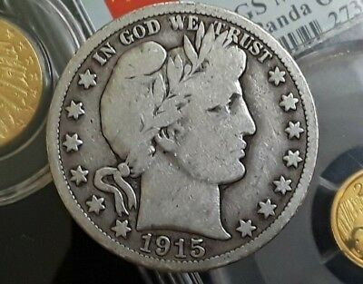1915-S Collectible Silver Barber Half-Dollar