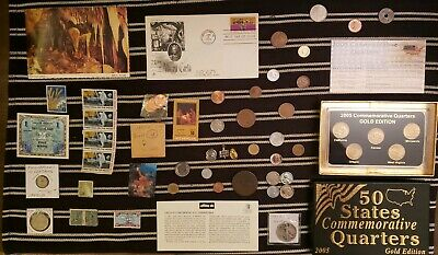Junk Drawer Lot: Old U.S. Coins 1917+, Scrap Silver, Buffalo Nickels, Stamps ++