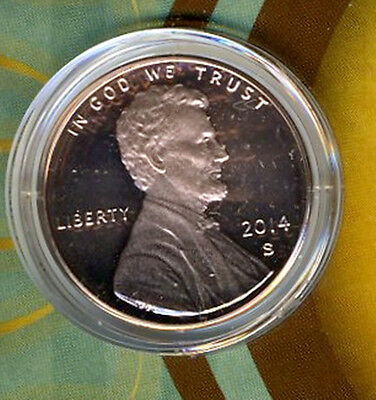2014 S Union Shield Lincoln Cent Deep Cameo Gem Proof No Reserve