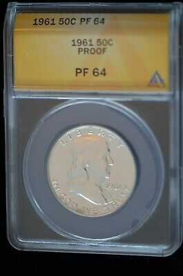 1961 Benjamin Franklin Proof  PF 64 Silver 50C  in Beautiful Luster-limited coin