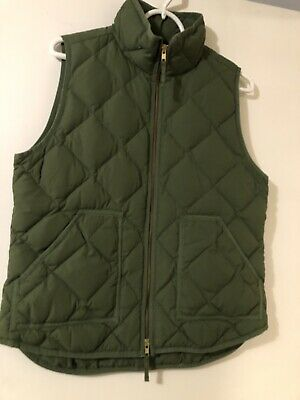 ab807f961 J.CREW FACTORY VEST Size Small S Women's Quilted Puffer Green ...
