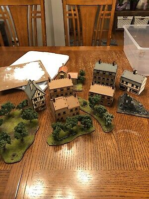 Flames Of War. Assorted Buildings And Terrain 15mm, ww2. 4 Ground And Custom