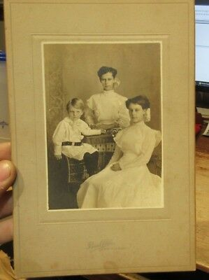 1890s Antique Old Cabinet Photo Picture Winfield Kansas Girls Boy Brother Sister
