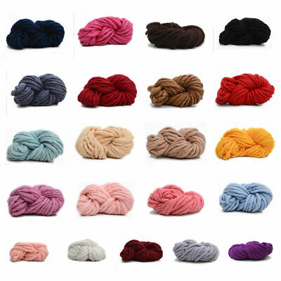 Soft Warm Hand Chunky Knit Blanket Thick Yarn Wool Bulky Bed Spread Throw 250g