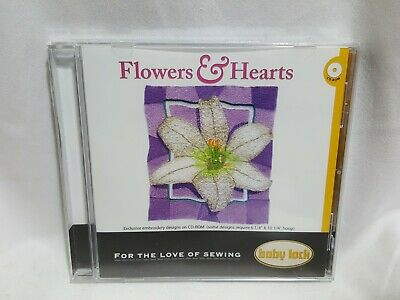 NEW Baby Lock - Flowers & Hearts Embroidery Designs CD 2005 SEALED - READ