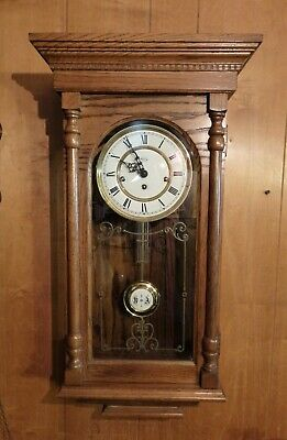Very Nice Ridgeway Oak Westminster Chimes Wall Clock