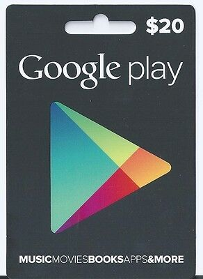 $20 Google Play Card