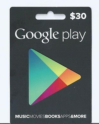 $30 Google Play Card