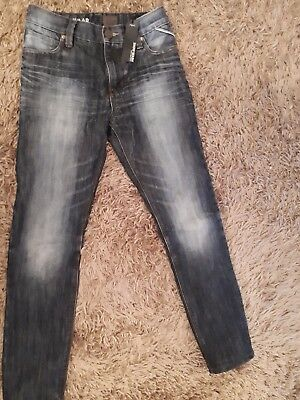 New Next Boys Stressed Effect Snow Washed Denim Jeans  Age 11 Bnwt