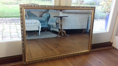 Quality Mantlepiece Hall Bevelled Edge Gilt Framed Mirror Richmond of London