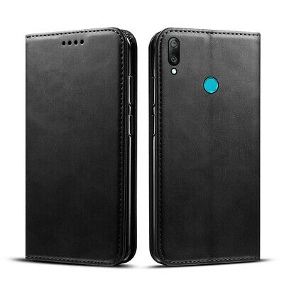 For Huawei Y6 2019 Luxury Leather Wallet Flip Stand Skin Case Card Holders Cover