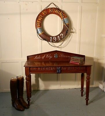 """A Victorian Mahogany Side Table from """"The Isle of Ely"""" Rowing Club"""