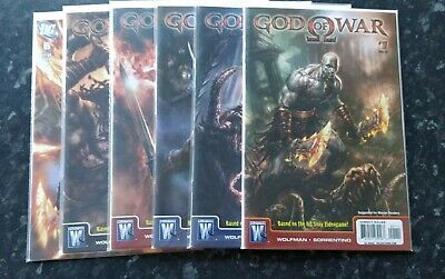 God of War - Rare Comics - Complete set #1-6