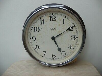 Vintage Smiths Bakerlight  & Chrome 8 Day Wall Clock