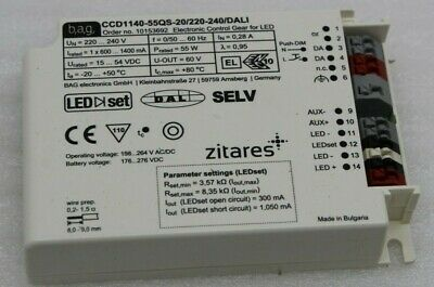 Bag Electronics LED Driver Ccd1140-55qs-20/ 220-240/ Dali Ip20 New Ballast