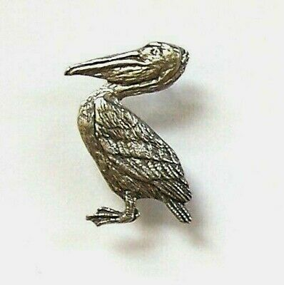 Pelican Brooch Pin Badge in Copyrighted Antiqued Pewter with Gift Box Option