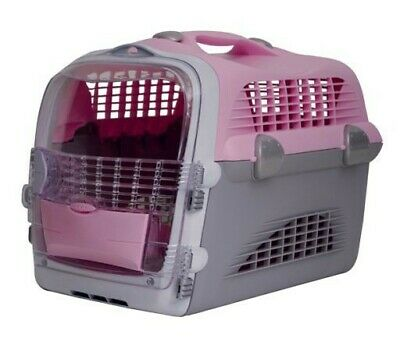 Catit Design Cat Cabrio Multi-Functional Carrier System, Pink/Grey/White