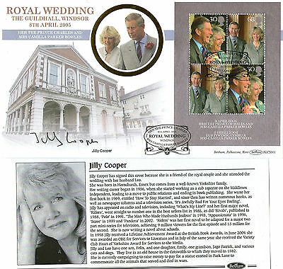 2005 Royal Wedding M/Sheet Signed Jilly Cooper Benham First Day Cover Shs