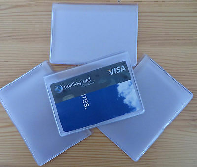 Replacement plastic credit card inserts holds six - free postage 4 for £6.95