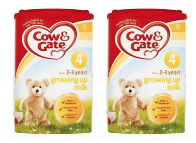 2 x Cow And Gate Stage 4 Growing Up Milk Powder 2+ Years (800G) - BBE JULY 2019