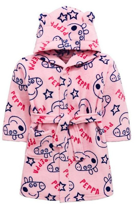 Peppa Pig: Dressing Gown With 3D Ears,2/3,3/4Yr New With Tags