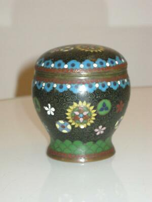 Stunning Antique Japanese Meiji Period Cloisonne Lidded  Vase