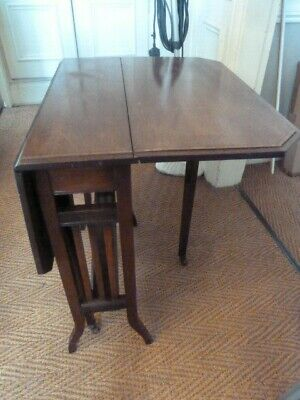 Antique Mahogany Sutherland FOLDING TABLE - Harrogate collect - Inlaid banding