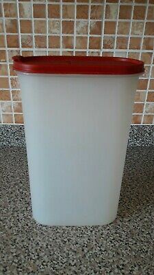Vintage Tupperware Modular Mate 1615 Space Save  2.9L, Red  flip pour lid