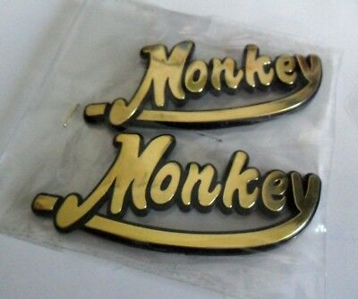 2 x STICKER ADHESIF EMBLEME DE RESERVOIR RELIEF HONDA MONKEY Z50 Z 50 SET