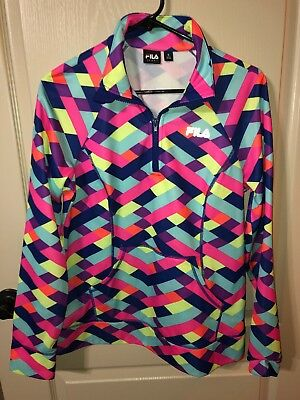 4759032d FILA SPORT WOMEN'S Athletic Performance Pullover Shirt 1/4 Zip Size Medium M