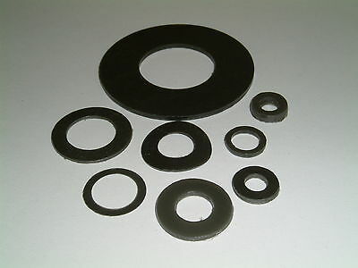 10 Plastic (Nylatron) Washers-I/D's from 6mm up to 38.8mm, 9 different sizes