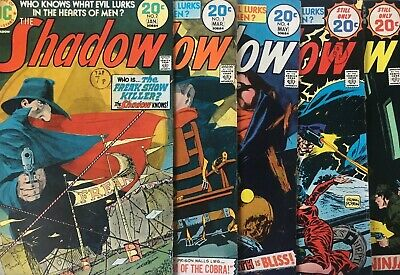 The Shadow. No 2,3,4,5,6 1974/5 Issue Dc Comics Lot  Mike Kaluta. Scarce Cents