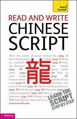 NEW - Read and write Chinese script (Teach Yourself) by Lianyi, Song