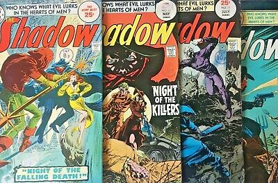 The Shadow No 9,10,11,12 1975 4 Issue Dc Comics Lot  Mike Kaluta. Scarce Cents