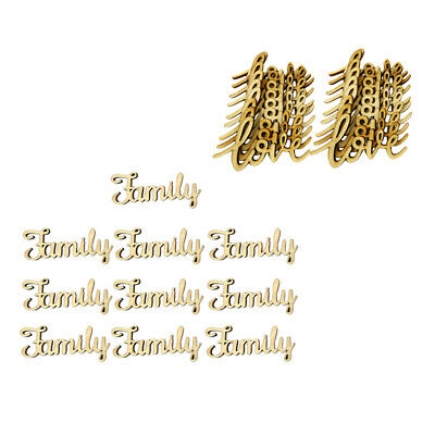 46x Wooden Family Love Wooden Cutout DIY Wooden Pieces Wedding Decoration