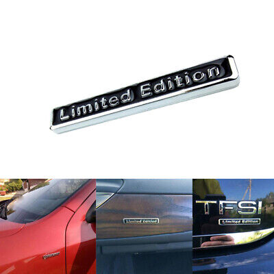 1x 3D Plating Metal LIMITED EDITION Logo Car Rear Fender Trunk Sticker Emblem