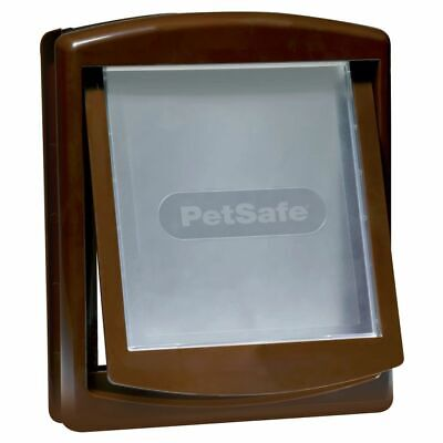 PetSafe Porte à 2 voies pour chiens 755 Medium 26,7 x 22,8 cm Marron