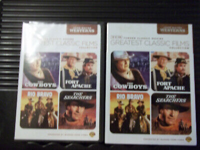 TCM Greatest Classic Films Collection: John Wayne Westerns 4 DVDs ~ FREE SHIP