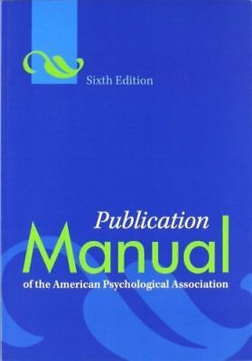 (PDF) Publication Manual of the APA American Psychological Association 6th Ed