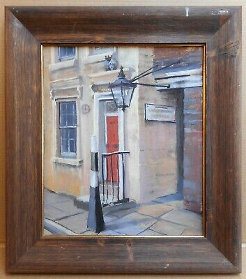 London Alleyway. Pastel by listed artist Christopher Assheton-Stones PS 1983