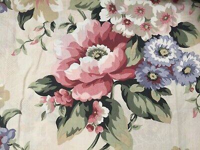 Floral French Country Cottage Curtains Drapes Pair 42 x 84 L