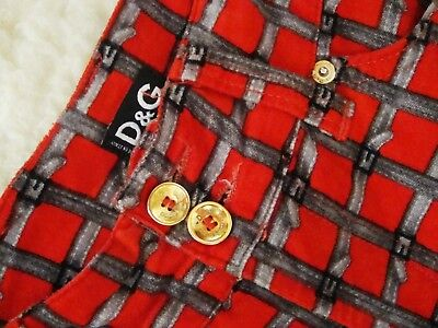 TROUSERS woman vintage 90's  DOLCE & GABBANA  tg.41 circa S made Italy  RARE