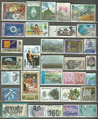 Worldwide 33 Different Used Stamps Lot Collection (208)