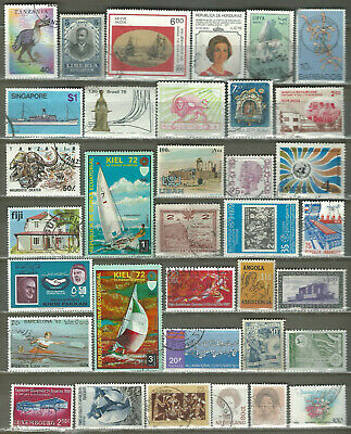 Worldwide 35 Different Used Stamps Lot Collection (209)