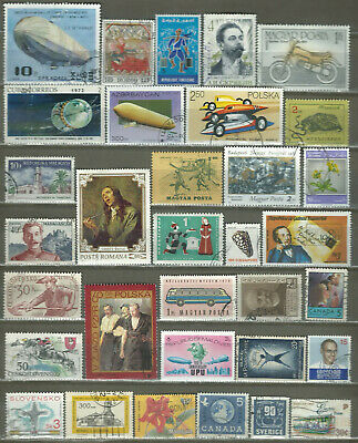Worldwide 33 Different Used+Mnh Stamps Lot Collection (225)